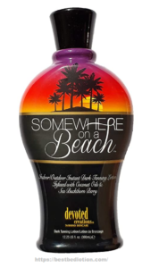Somewhere on a Beach, Indoor-Outdoor, Instant Dark Tanning Lotion