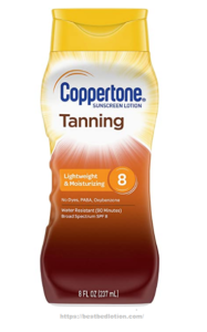 Coppertone Tanning Sunscreen Lotion Broad Spectrum SPF 8